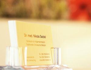 Visitenkarten Dr. med. Nikola Seidel