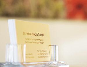Visitenkarte Dr. med. Seidel